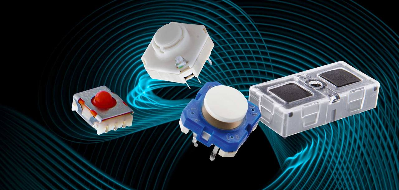 Tactile switches from RAFI: MICON 5, RACON, RF und KN 19